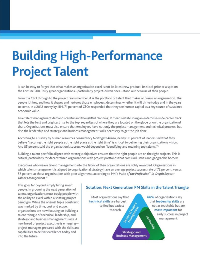 building a high performance project team essay Read this full essay on high performance teams  a common purpose allows a  team to build an identity that extends beyond the sum of the individuals   behaviour on the level of innovation among professional project teams and found  a.