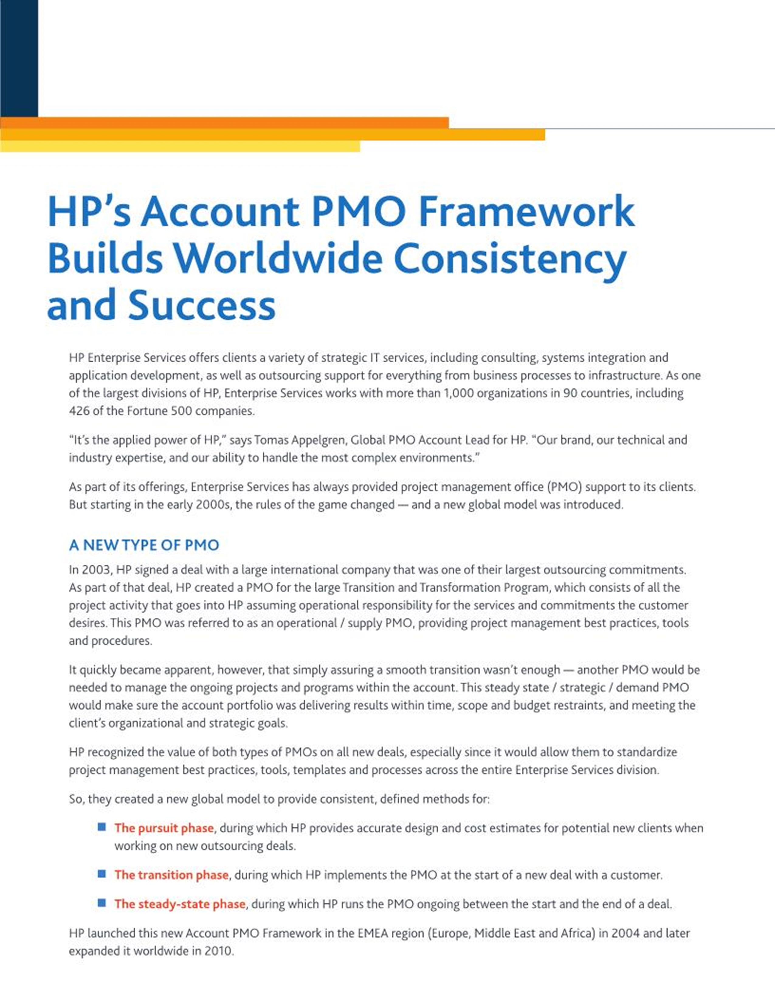 Hps account pmo framework builds worldwide consistency and hps account pmo framework builds worldwide consistency and success pmi xflitez Image collections