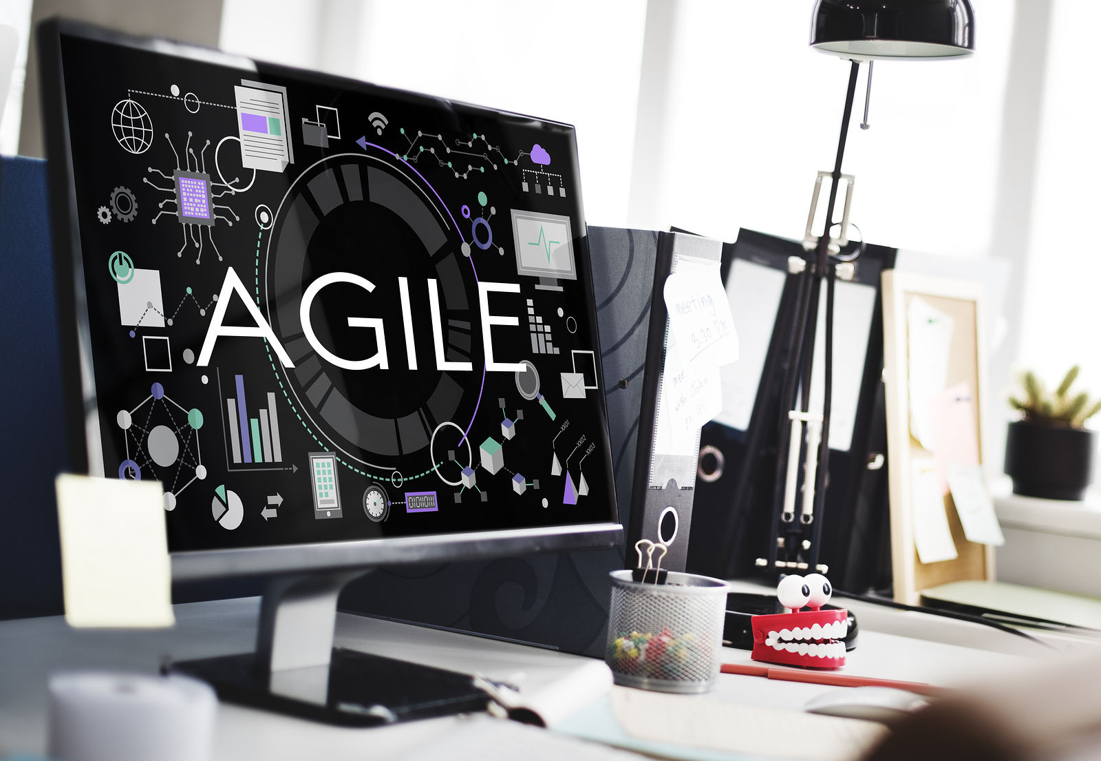 The concept of agility, nimble, quick and fast with agile