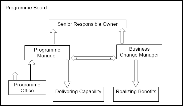Organizational structure for programs. © Crown Copyright 2007, Page 30, Managing Successful Programmes
