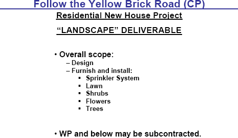 """Landscape"" Deliverable Scope"