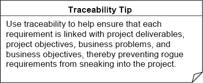 Traceability tip