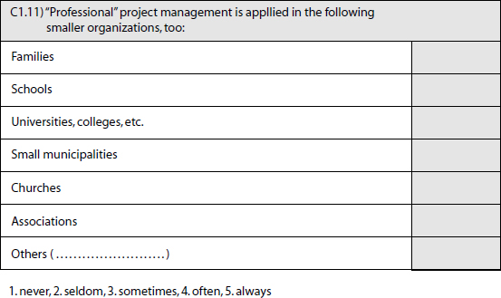 A Project Management Question for New Areas of Application