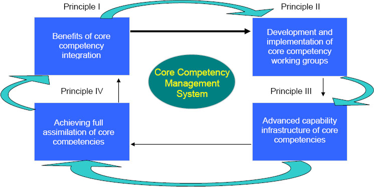Integration of the four principles of the CCMS approach
