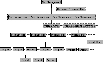 Traditional projectized organizational structure