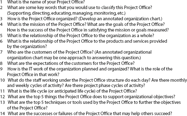 Project Office Interview Questions