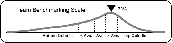 The Team Benchmarking Curve (300 Teams)