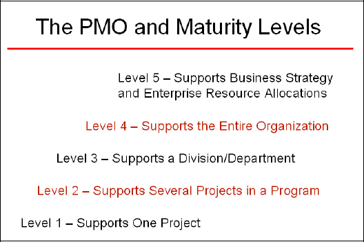 The Project Management Office (PMO) and Maturity Levels