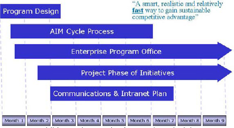 The AIM implementation schedule