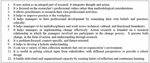advantages of action research Participatory action research: the key to successful implementation of innovations in health professions education.